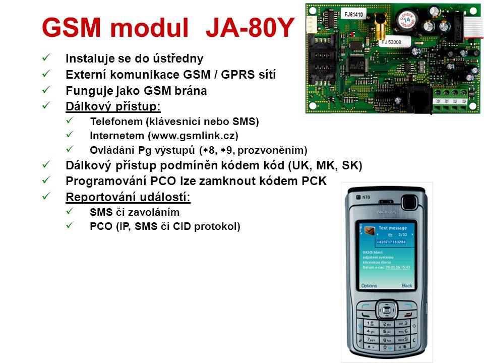 Výstupní modul AC-82  2 výstupní relé (X a Y) - zatížitelnost 5A  Lze použít s:  Ústřednou  Detektory  Vysílači RC-8x  Termostaty TP-8x  Nelze