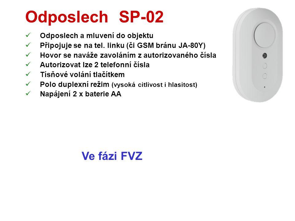 Hlasový modul JA-80X  Reportuje poplachy hlasem  Až na 4 telefonní čísla  Má 6 hlasových zpráv  Jméno objektu  Vloupání  Požár  Sabotáž  Panik