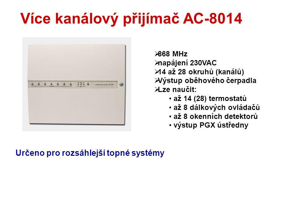Řízení teploty v místnostech až 28 okruhů čerpadlo ventily