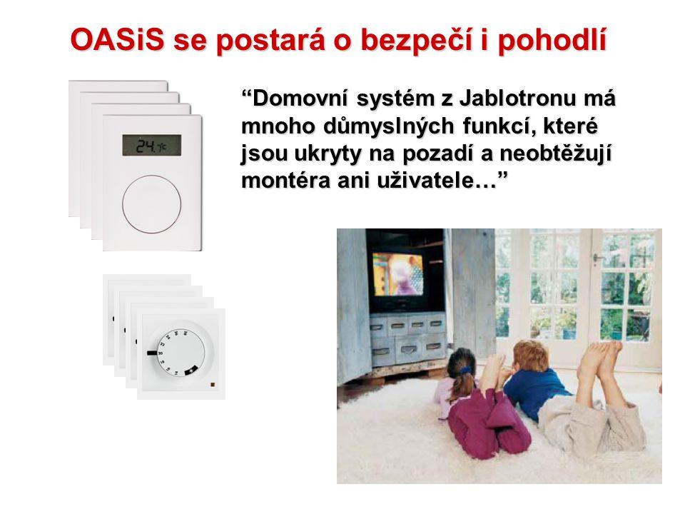 Hlášení ztráty komunikace (s termostatem) Ventily a čerpadlo Přijímač topení Termostaty Okenní detektoryÚstředna EZS Dálkové ovladače Telefon Tok sign