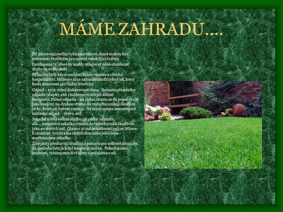MÁME ZAHRADU....