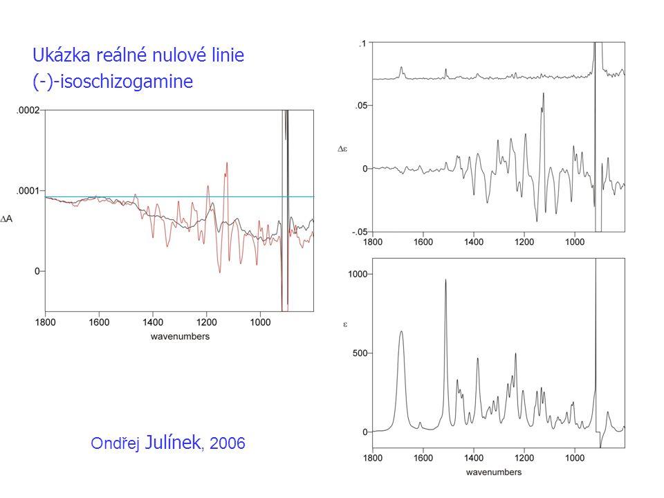 Ukázka reálné nulové linie (-)-isoschizogamine Ondřej Julínek, 2006