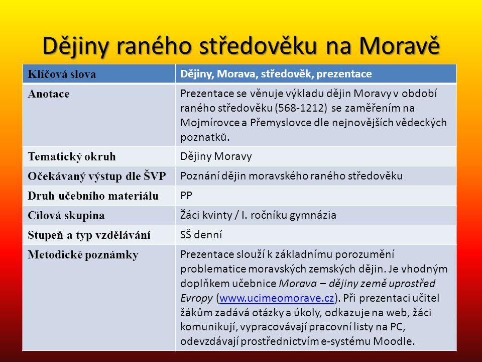 Příchod Slovanů (6.-8.