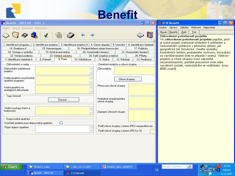10.12.2007, Havlíčkův BrodŠkolení projektových manažerů Benefit •;;