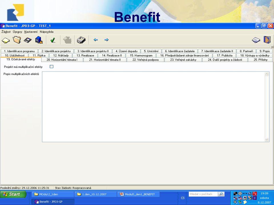 10.12.2007, Havlíčkův BrodŠkolení projektových manažerů Benefit