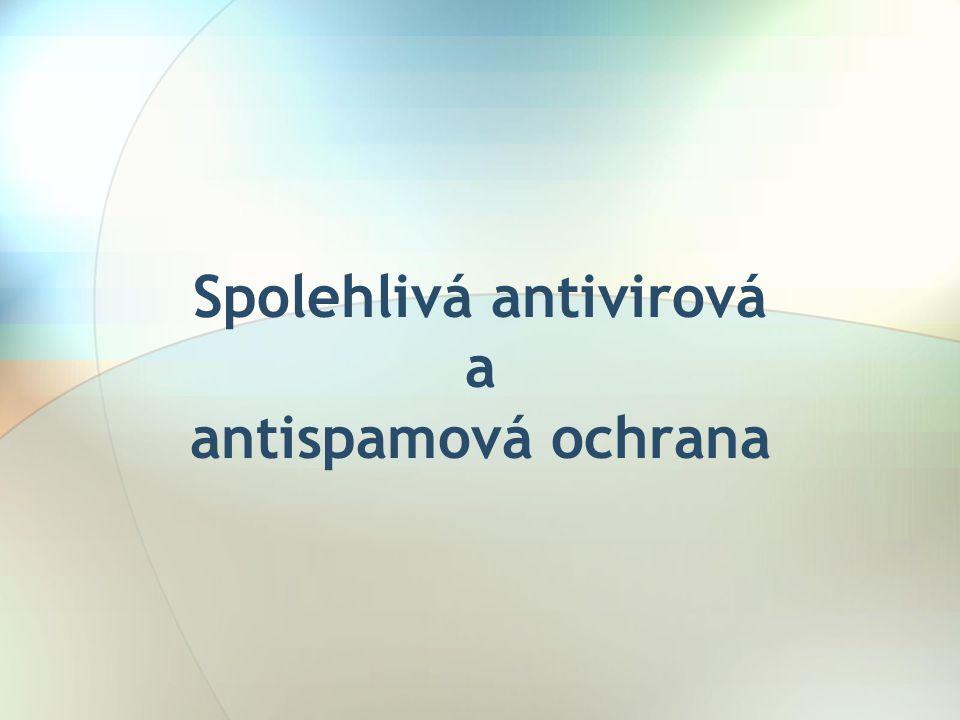 Použití spolehlivého antivirového programu •Alwil avast.