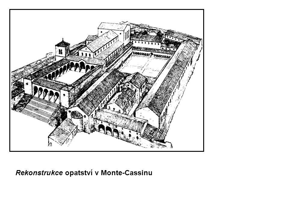 Rekonstrukce opatství v Monte-Cassinu