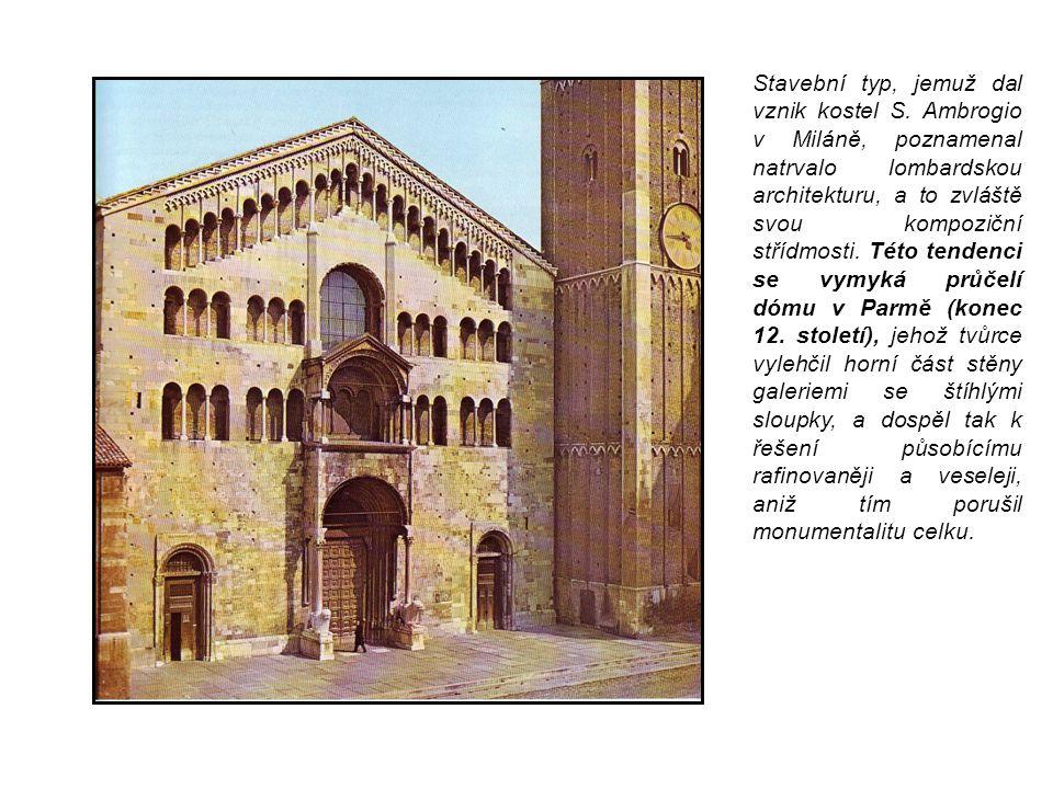 Stavební typ, jemuž dal vznik kostel S. Ambrogio v Miláně, poznamenal natrvalo lombardskou architekturu, a to zvláště svou kompoziční střídmosti. Této