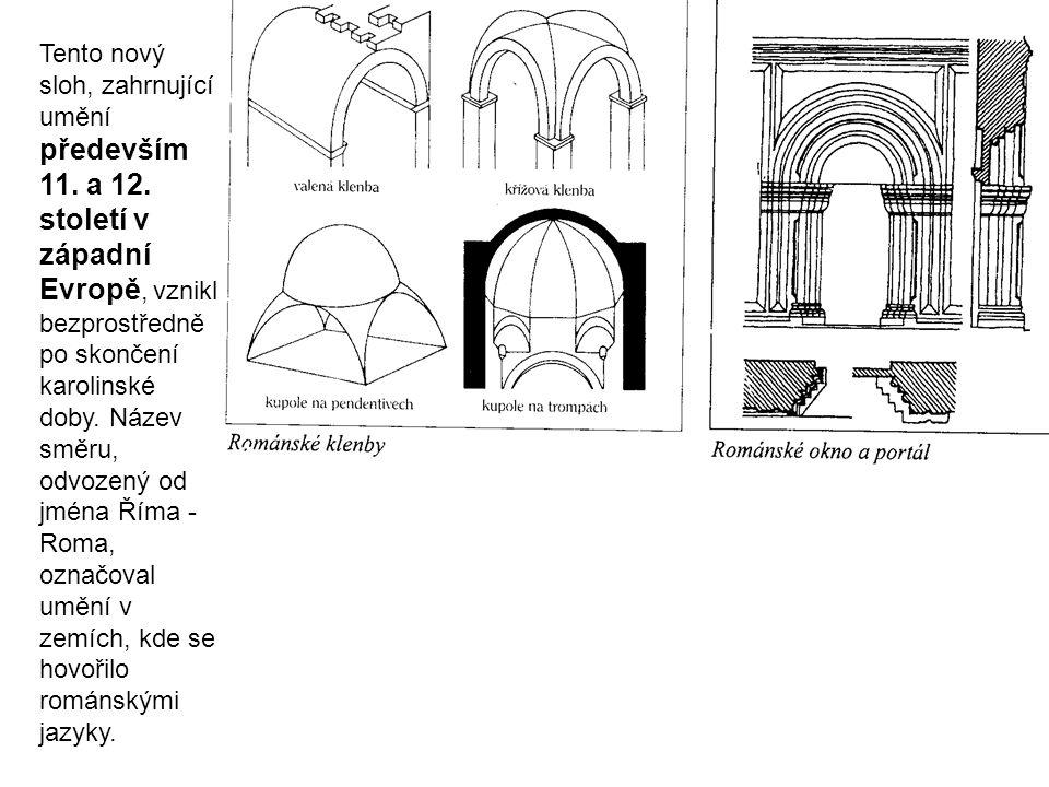 Tento nový sloh, zahrnující umění především 11. a 12. století v západní Evropě, vznikl bezprostředně po skončení karolinské doby. Název směru, odvozen