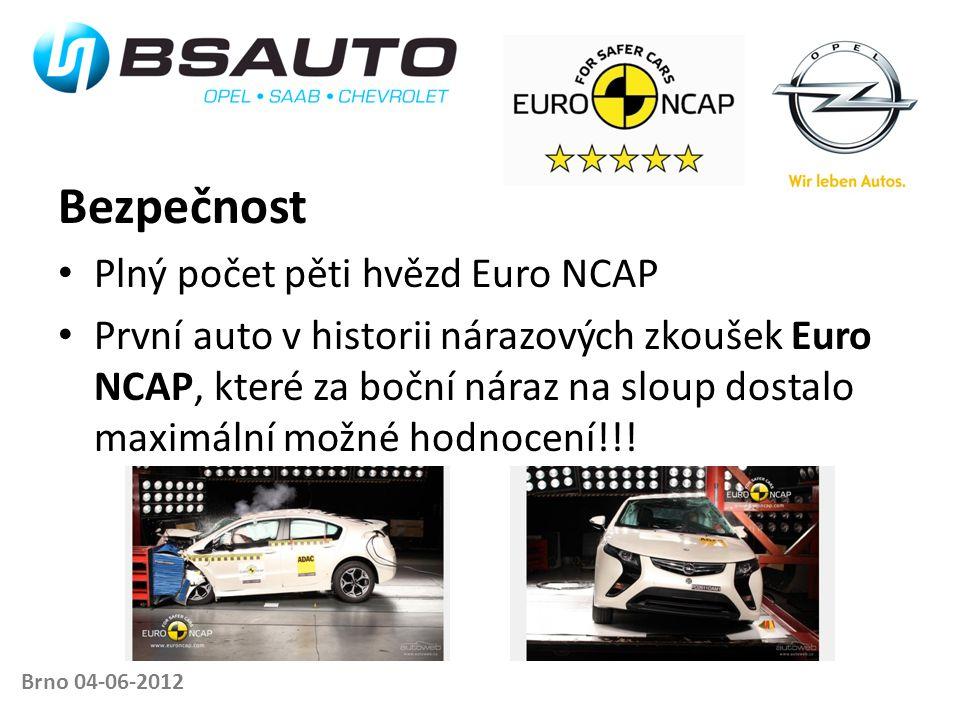Brno 04-06-2012 Bezpečnost • Plný počet pěti hvězd Euro NCAP • První auto v historii nárazových zkoušek Euro NCAP, které za boční náraz na sloup dosta