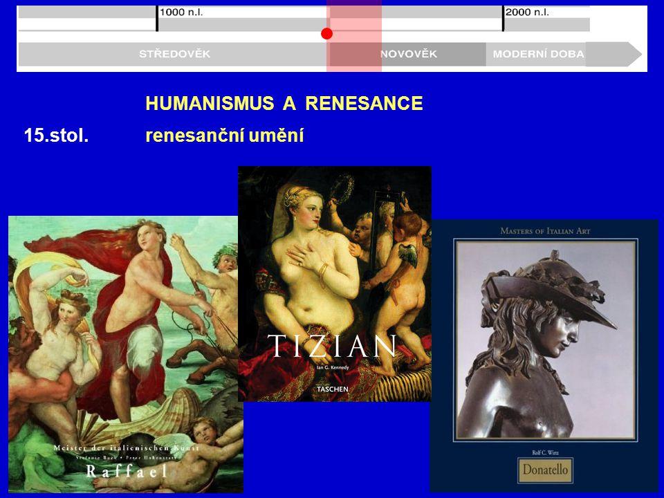 15.stol. HUMANISMUS A RENESANCE renesanční umění