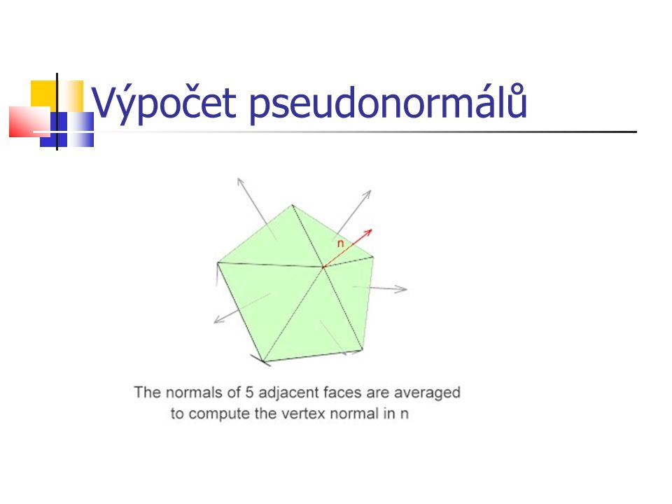 Výpočet pseudonormálů