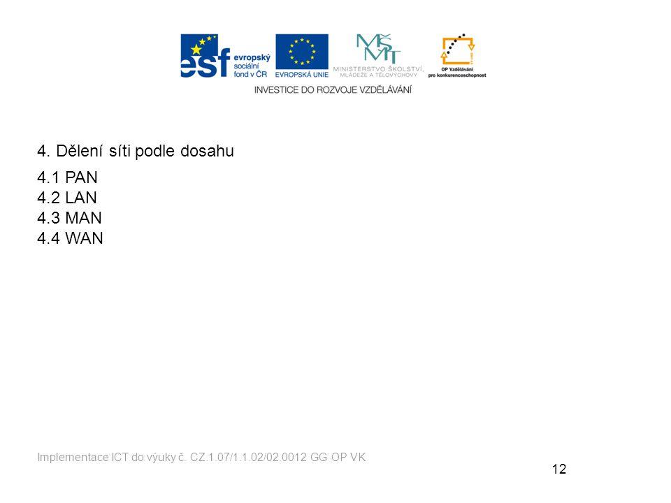 12 Implementace ICT do výuky č.CZ.1.07/1.1.02/02.0012 GG OP VK 4.