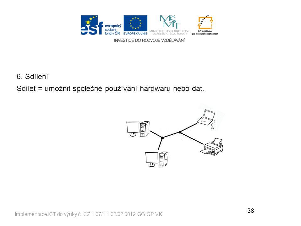 38 Implementace ICT do výuky č.CZ.1.07/1.1.02/02.0012 GG OP VK 6.