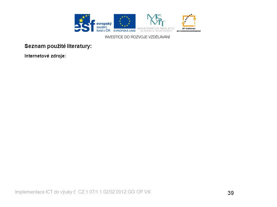 39 Implementace ICT do výuky č.