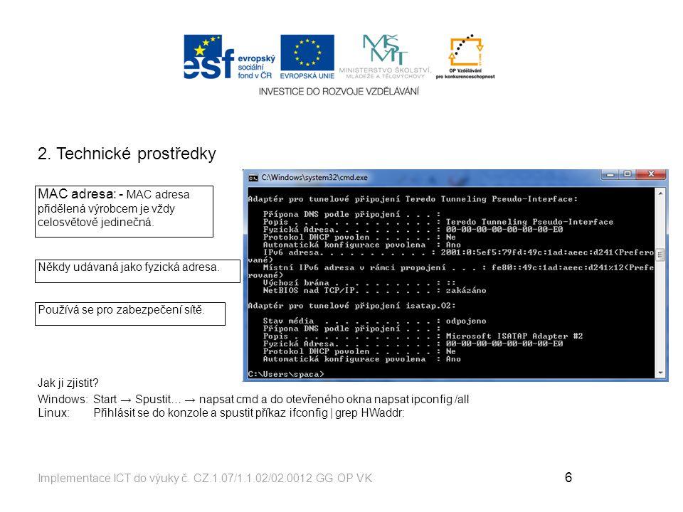 6 Implementace ICT do výuky č.