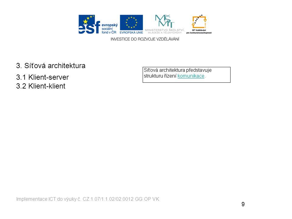 9 Implementace ICT do výuky č.CZ.1.07/1.1.02/02.0012 GG OP VK 3.