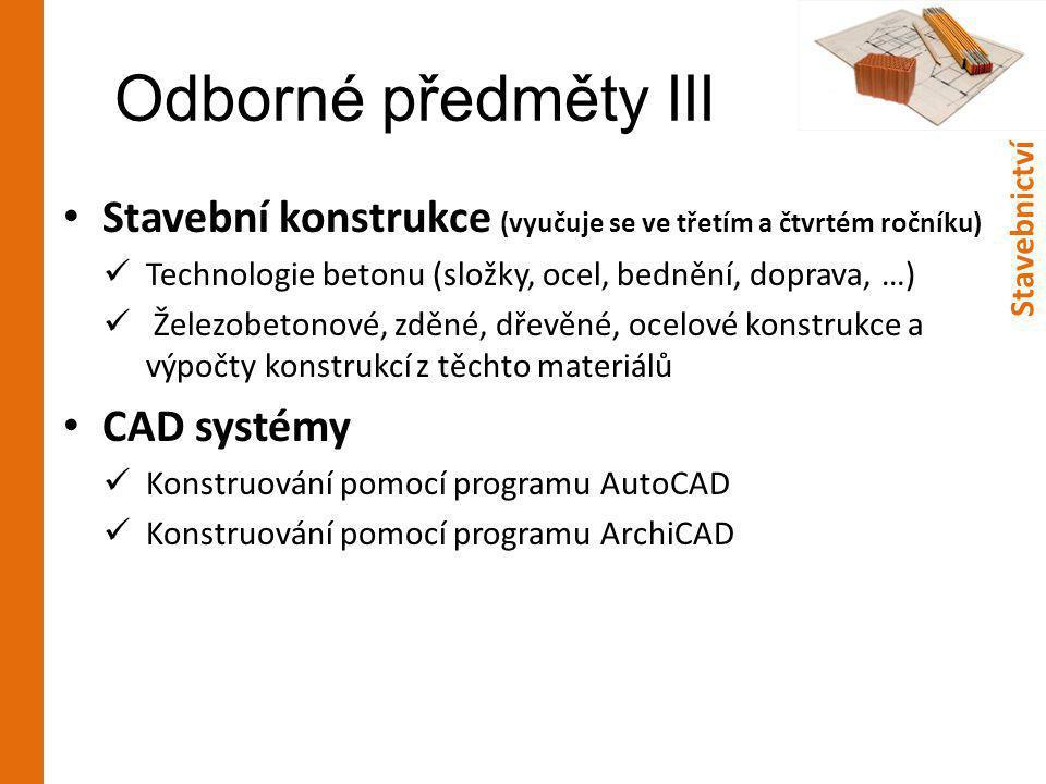 Odborné předměty IV • Praxe 1.a 2.
