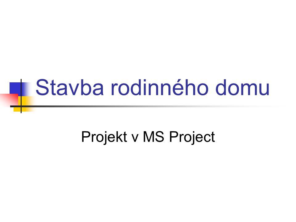 Stavba rodinného domu Projekt v MS Project