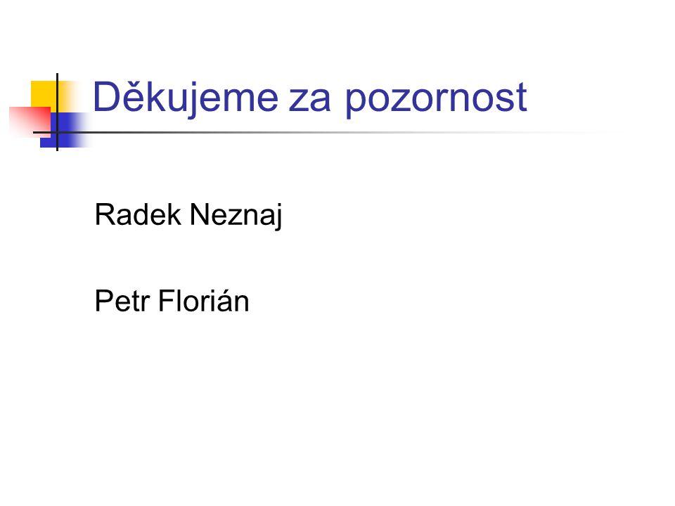 Děkujeme za pozornost Radek Neznaj Petr Florián