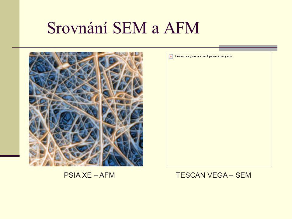 Srovnání SEM a AFM PSIA XE – AFM TESCAN VEGA – SEM