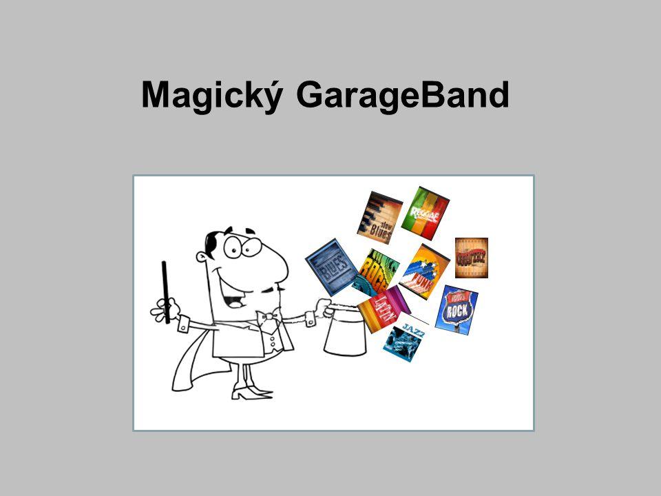 V této sekci se dá zpracovávat hudba, aniž bychom potřebovali klávesnici V celé práci si vystačíme s myší GarageBand