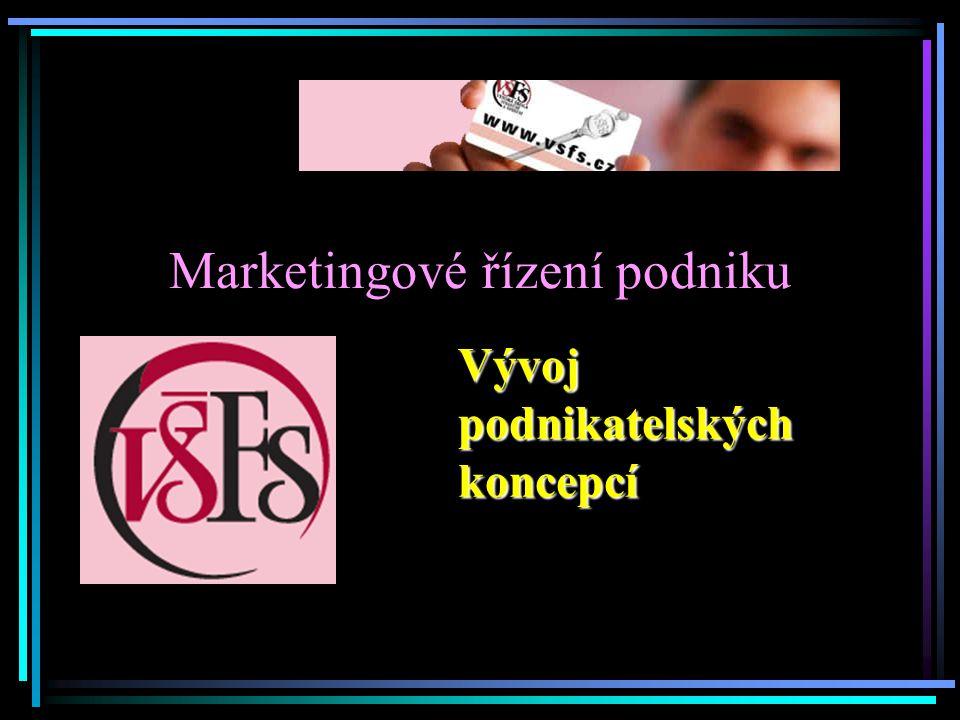 Marketingové řízení podniku Vývoj podnikatelských koncepcí