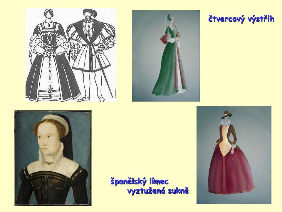 čtvercový výstřih španělský límec vyztužená sukně vyztužená sukně