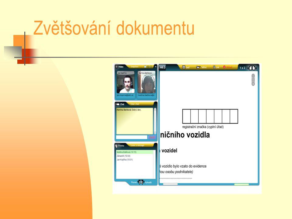 Zvětšování dokumentu