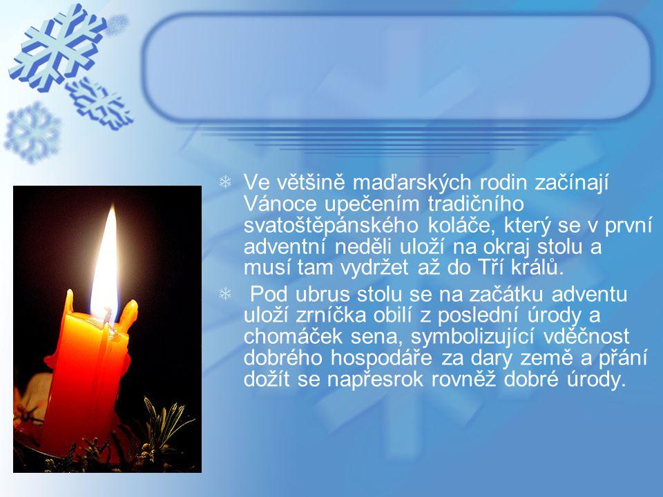 Na Štědrý den se dodržuje podle církevní tradice půst.
