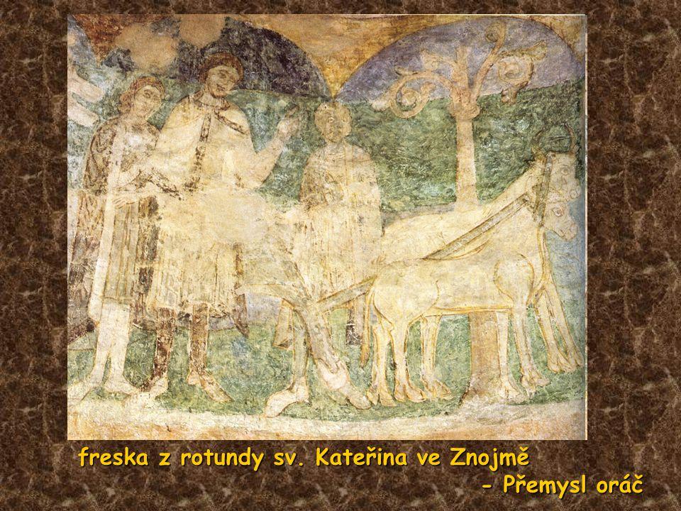 freska z rotundy sv. Kateřina ve Znojmě - Přemysl oráč - Přemysl oráč