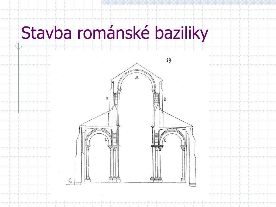Stavba románské baziliky