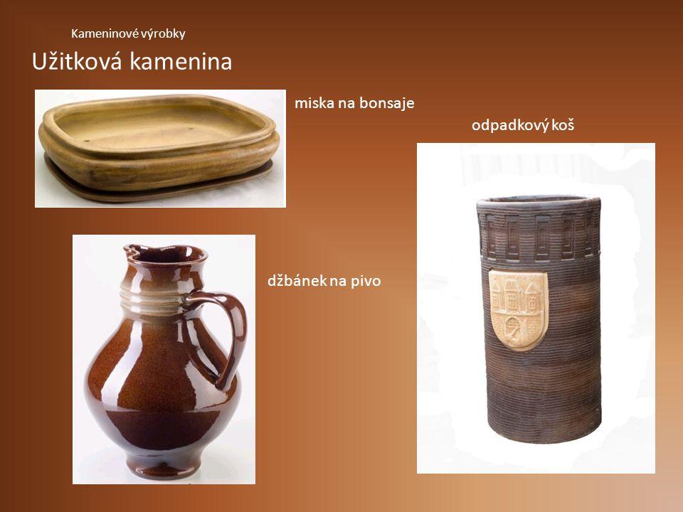 miska na bonsaje odpadkový koš džbánek na pivo Užitková kamenina