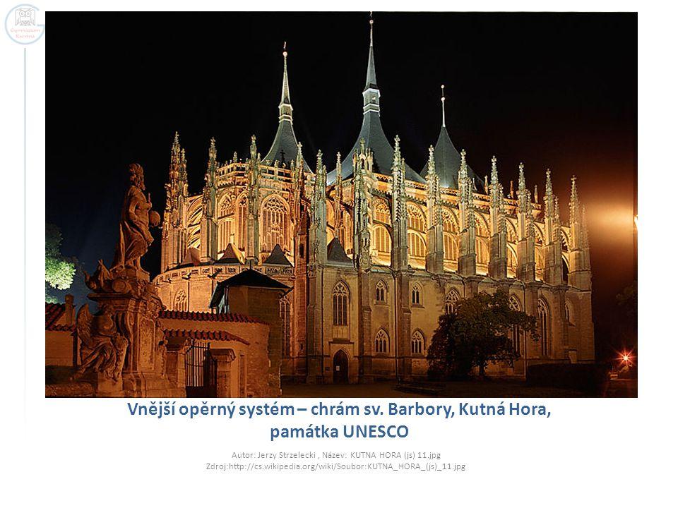 Vnější opěrný systém – chrám sv.