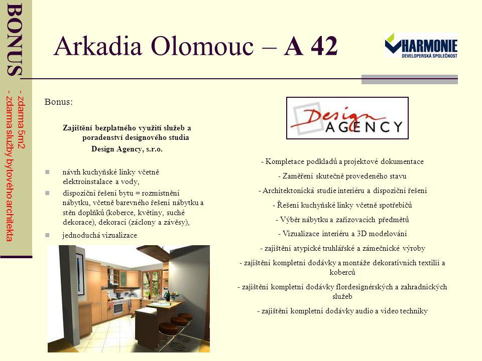 Arkadia Olomouc – A 42 HARMONIE GROUP, a.s.