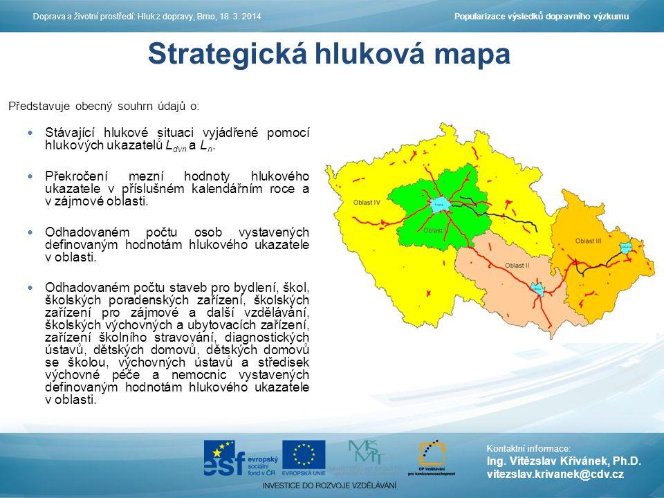 Popularizace výsledků dopravního výzkumuDoprava a životní prostředí: Hluk z dopravy, Brno, 18.