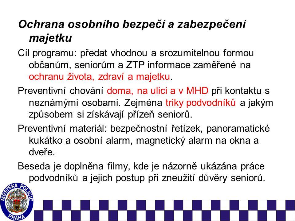 Bezpečný pohyb seniorů v provozu metropole Vysvětlení pojmů dle z.č.