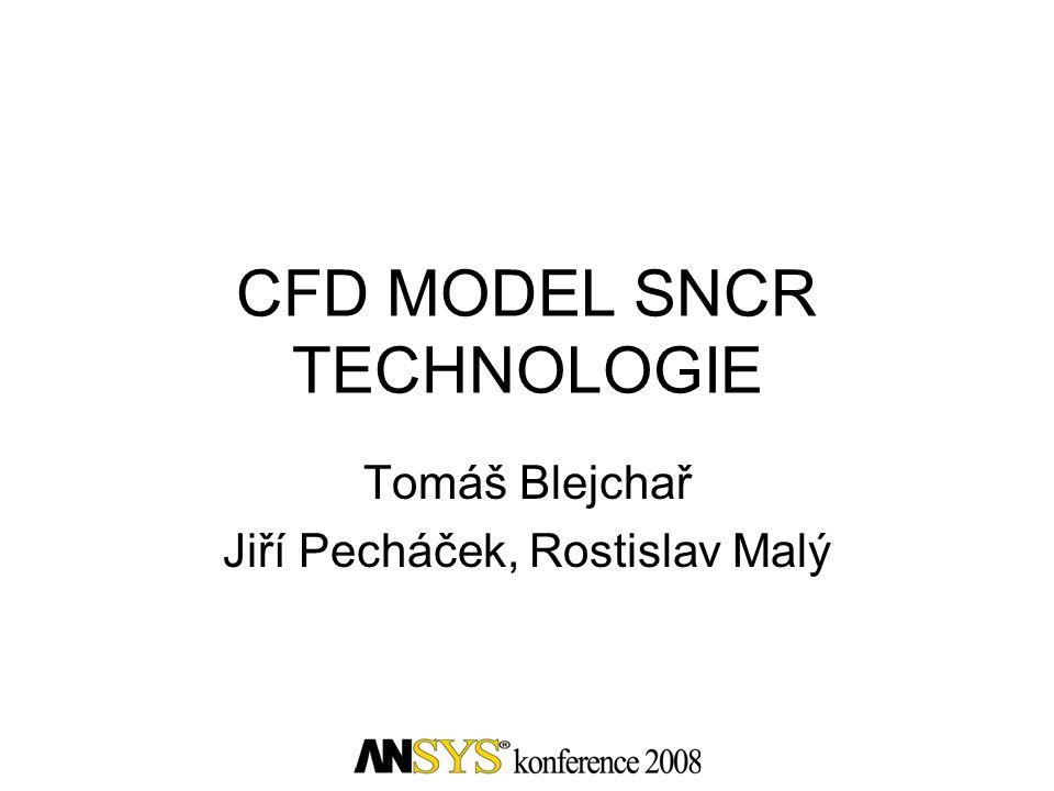 Obsah •Úvod do problematiky •Metody sekundárního snižování emisí NO x •Metodika návrhu a ověření umístění trysek •Model SNCR •Srovnání výsledků CFD výpočtů s měřením •Závěr