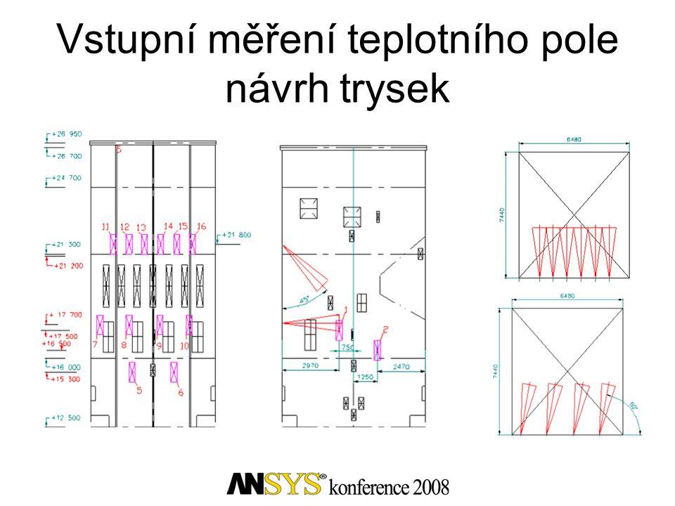 Vstupní měření teplotního pole návrh trysek