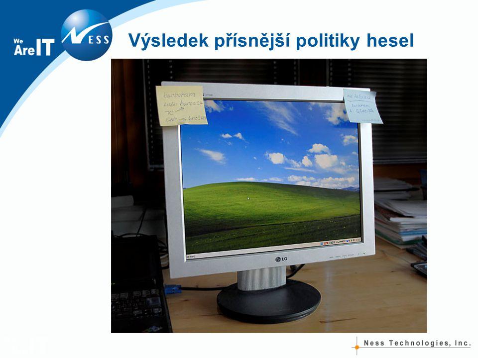 Výsledek přísnější politiky hesel