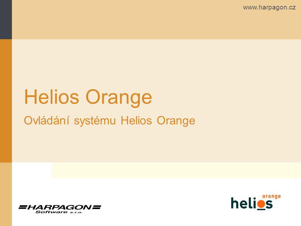 www.harpagon.cz Helios Orange Ovládání systému Helios Orange