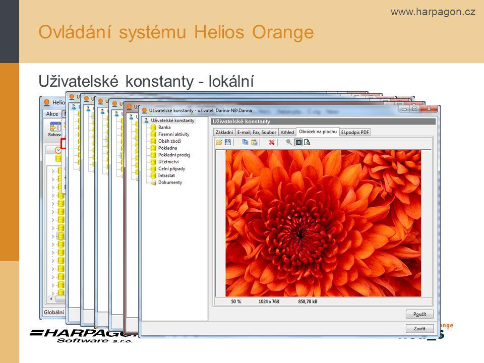www.harpagon.cz Ovládání systému Helios Orange Uživatelské konstanty - lokální