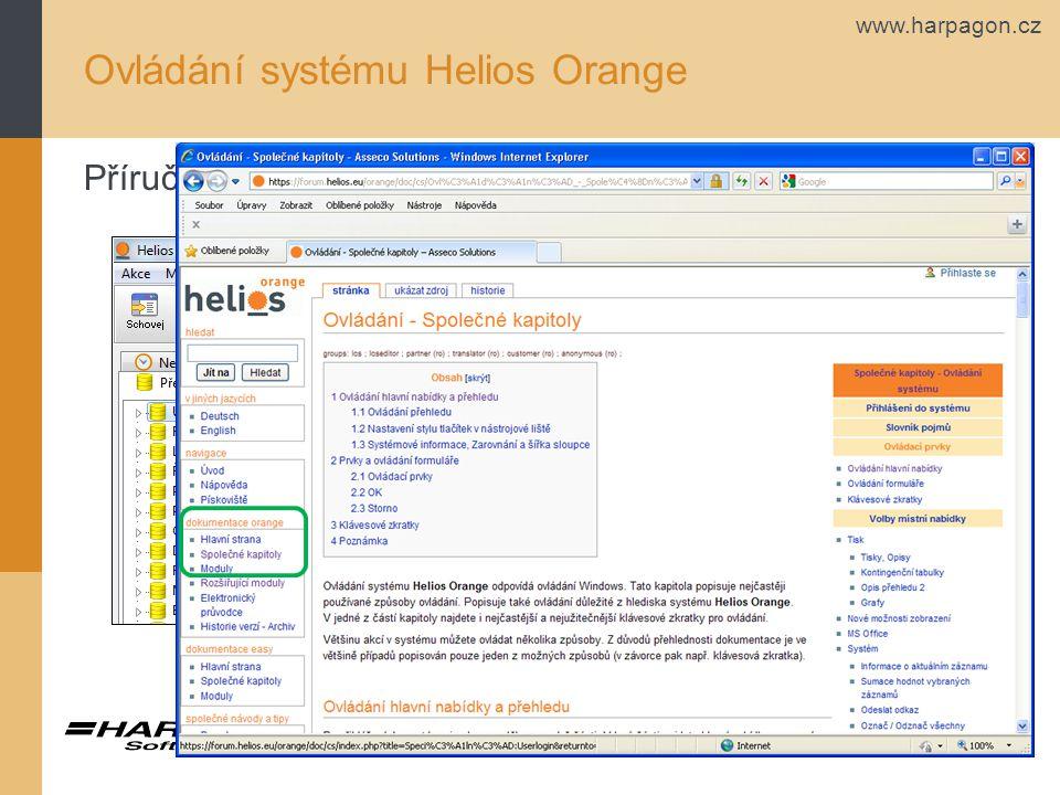 www.harpagon.cz Ovládání systému Helios Orange Příručka na webu