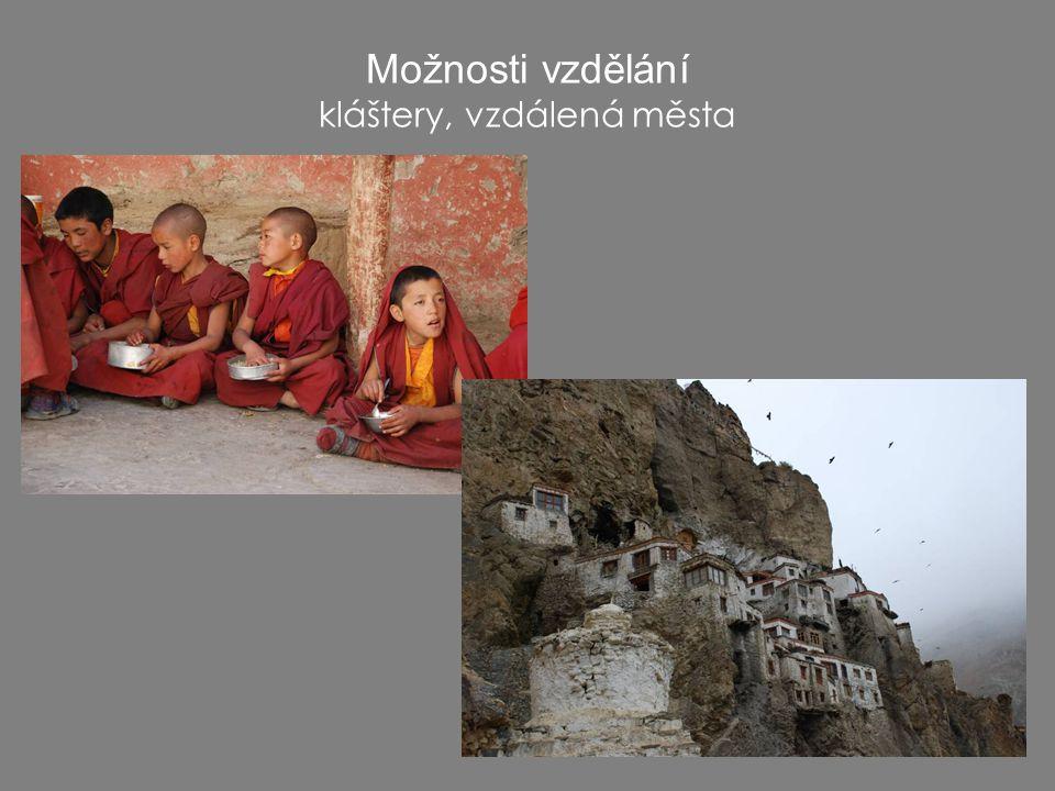 Možnosti vzdělání kláštery, vzdálená města
