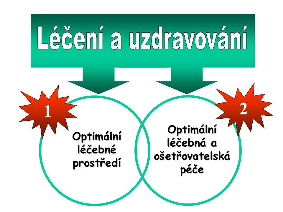 Optimálníléčebnéprostředí Optimální léčebná a ošetřovatelskápéče 1 2