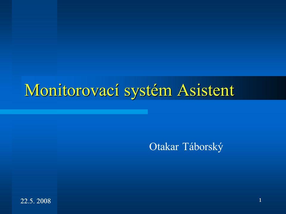 1 Monitorovací systém Asistent Otakar Táborský 22.5. 2008