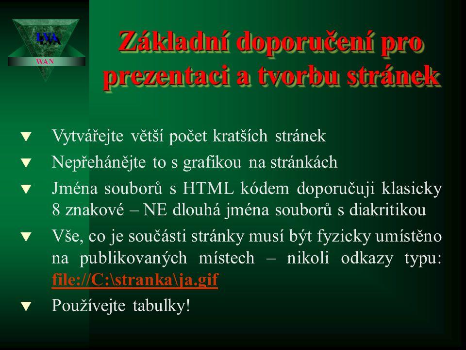 Struktura statické WWW stránky LVALVA WAN Název stránky http://www.euroshop.cz/