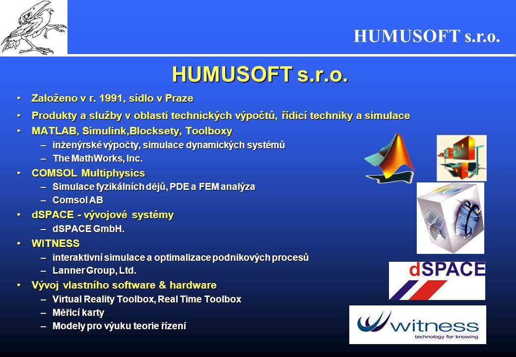 HUMUSOFT s.r.o. 6 MATLAB R2006a