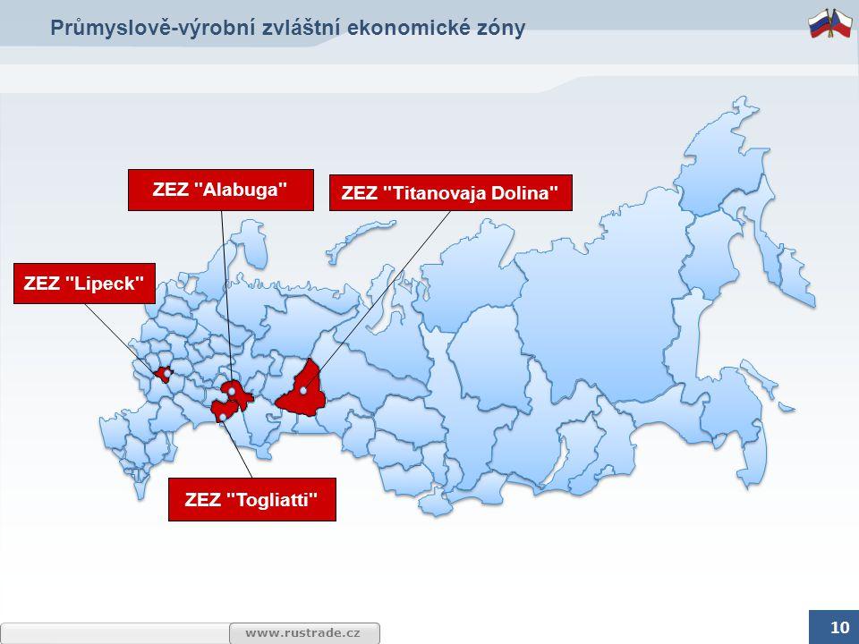 www.rustrade.cz Průmyslově-výrobní zvláštní ekonomické zóny 10 ZEZ