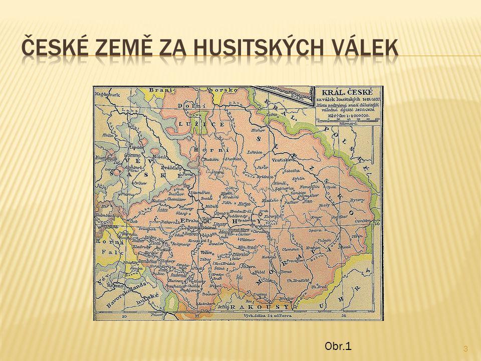  Obr.1:Soubor:Kingdom of Bohemia during the Hussite Wars.jpg - Wikipedie.